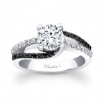 Black Diamond Engagement Ring - 7677LBKW