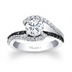 Black Diamond Engagement Ring - 7848LBKW