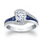 Blue Sapphire Engagement Ring - 7898LBSW