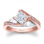 Rose Gold Engagement Ring - 7922LTW