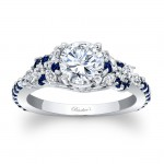 Engagement Ring With Blue Sapphires 7932LBSW