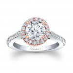 Two Tone Halo Engagement Ring 7933LTW