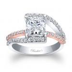 Princess Cut Engagement Ring 7935LTW