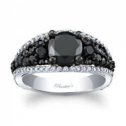 Black & White Engagement Ring BC-7892LBKW