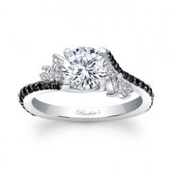 Black Diamond Engagement Ring - 7908LBKW