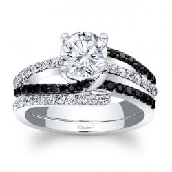 Black Diamond Bridal Set 7677SBKW