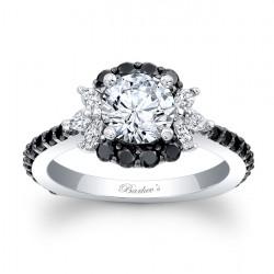 Black Diamond Engagement Ring 7930LBKW