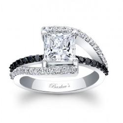 Black Diamond Engagement Ring