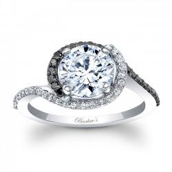 Black Diamond Engagement Ring 8031LBK