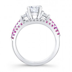 Pink Sapphire Engagement Ring 7539SPSW Profile