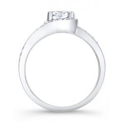 Modern Black Diamond Engagement Ring - 7898LBK Profile
