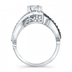 Black Diamond Engagement Ring 8020LBK Profile