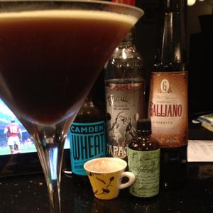 Sparkling Agave Wheat Espresso Martini