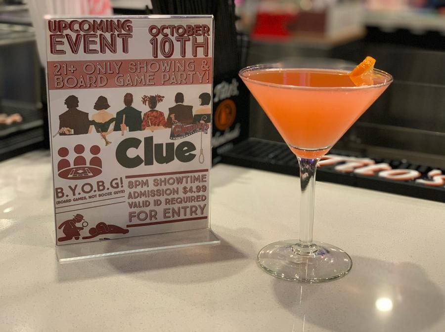 Whodunit? Blood Orange Martini