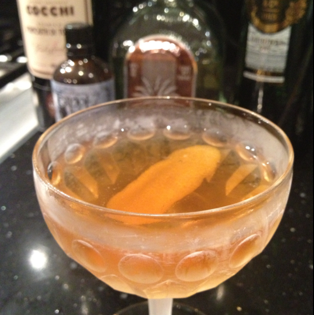 Mezcal Manhattan