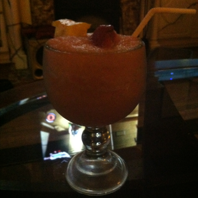 Luscious strawberry daiquiri