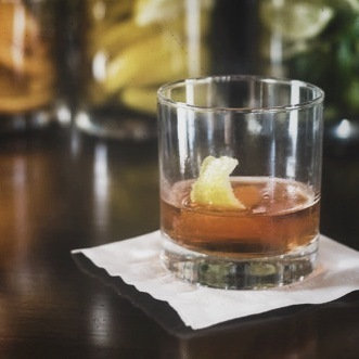 Salted Sorghum Old Fashioned