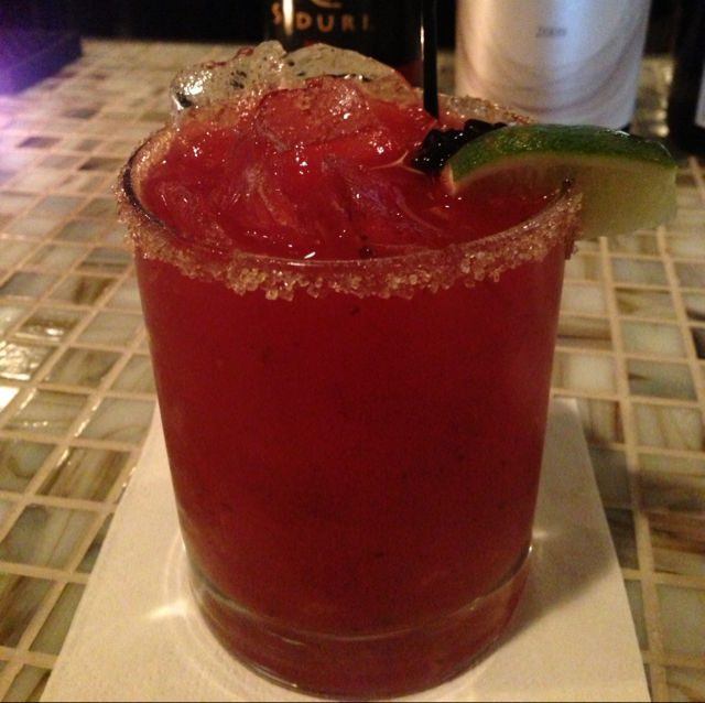 Roasted Serrano and Blackberry Margarita