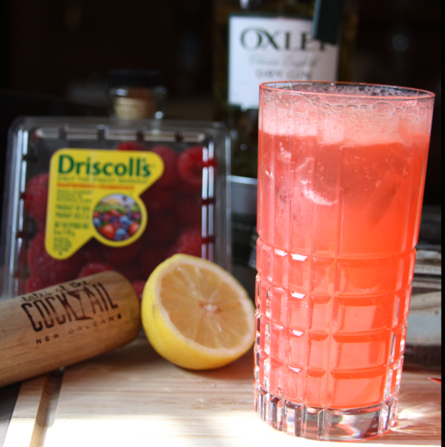 Texas Honey Red Raspberry Lemon Basil Collins