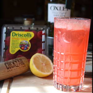 Texas Honey Red Raspberry Lemon Basil Collins