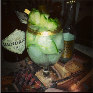 Hendrick's Gin and Tonic ( Simplicity at it's finest)