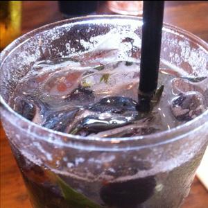 Blueberry Basil Gin Fizz
