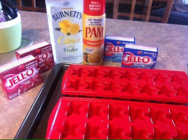 Happy Birthday America Jello Shots