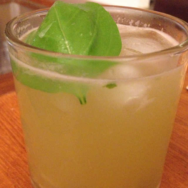 Basil gin and ginger