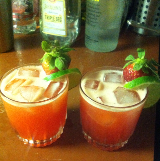 Strawberry Limeade Cosmo