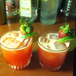 Strawberry Limeade Cosmo
