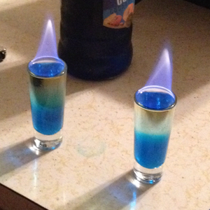Flaming Blue Balls