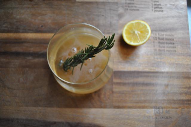 Meyer Lemon and Rosemary Sour