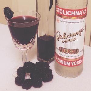 Blackberry Balsamic Martini