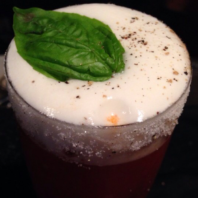 Salsa Bloody Mary with Jalapeño foam
