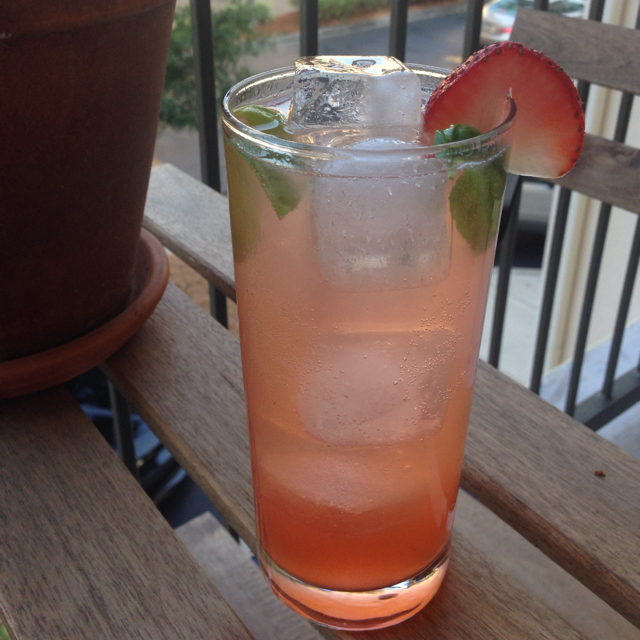 Strawberry Basil Collins