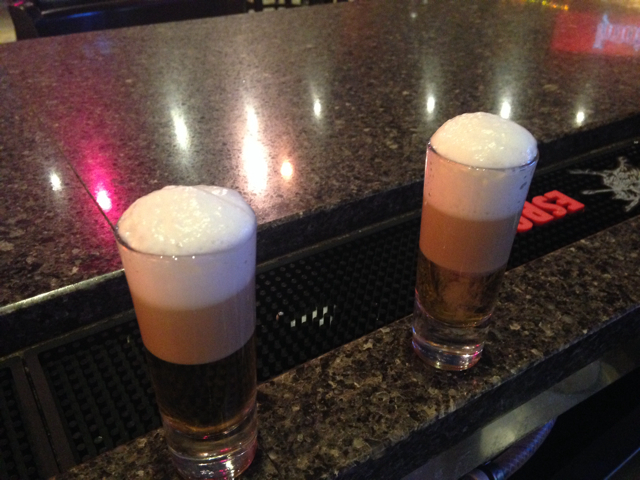 Buttery Nipples with Banana Cream foam top.