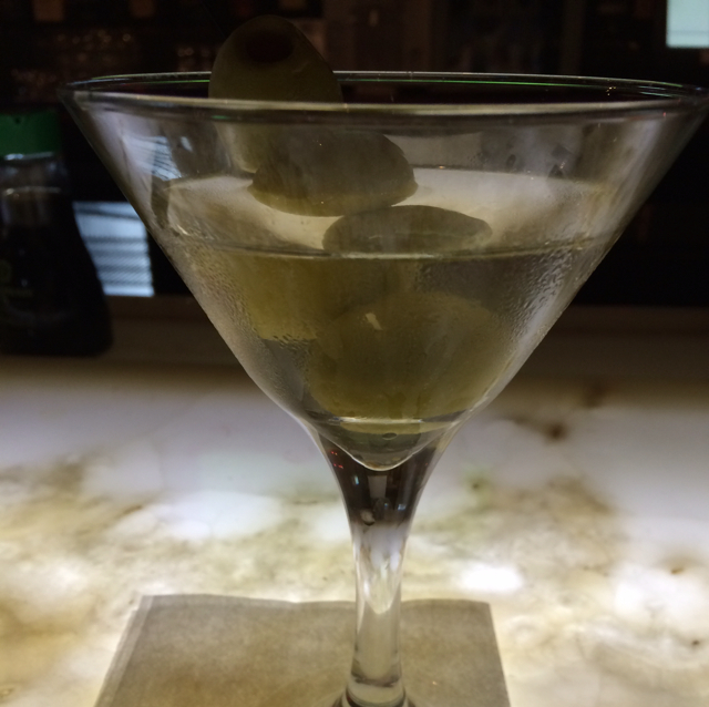 3 Olive Dirty Vodka Martini