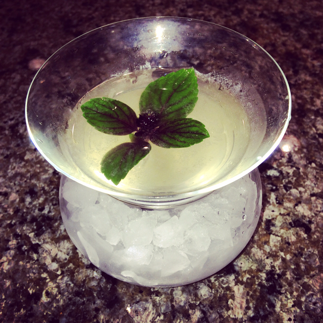 Lemon Basil Ginger Martini
