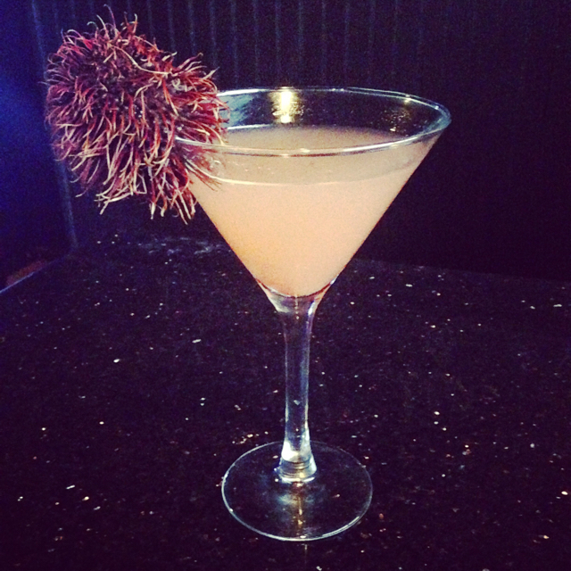 Spiced Pear and Guava Martini