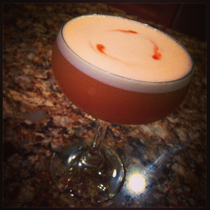 Whiskey Sour with Orange Marmalade.