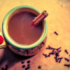 Spiked Apple Cider with Maple and Spices
