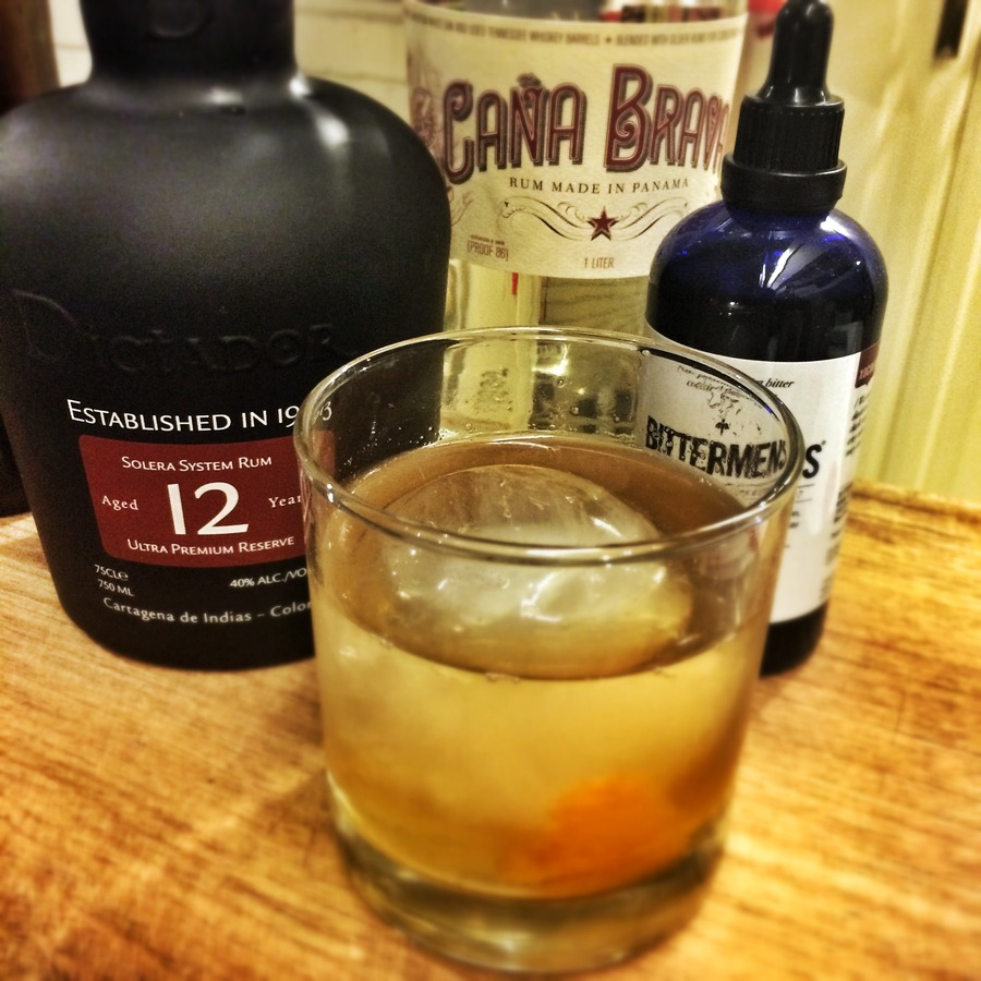 Rum Poire Old Fashioned