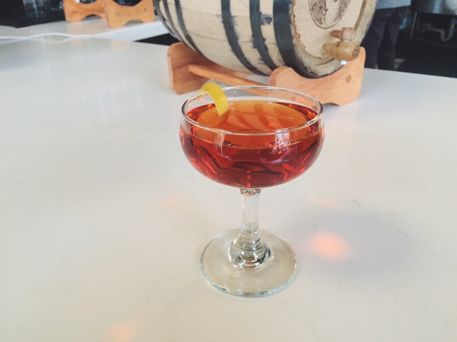 Barrel Aged Rose Manhattan