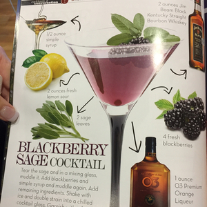 Blackberry Sage Cocktail
