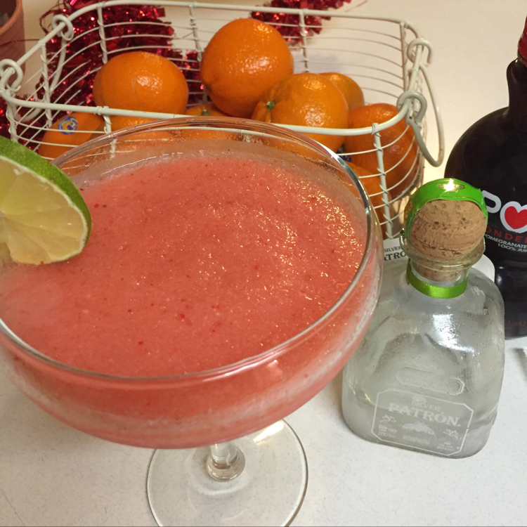 Pomegranate Strawberry Magarita