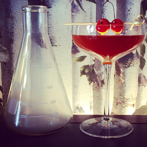 Smoked cherry Manhattan