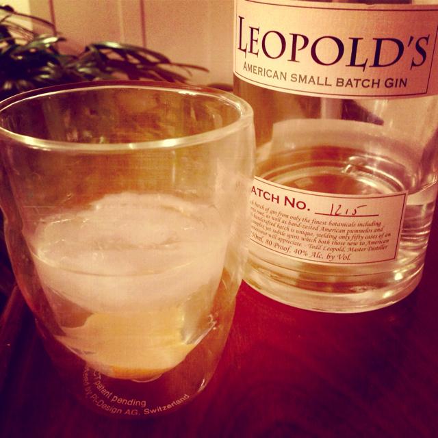 Leopold's Gin on Rocks