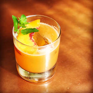 Whiskey peach smash