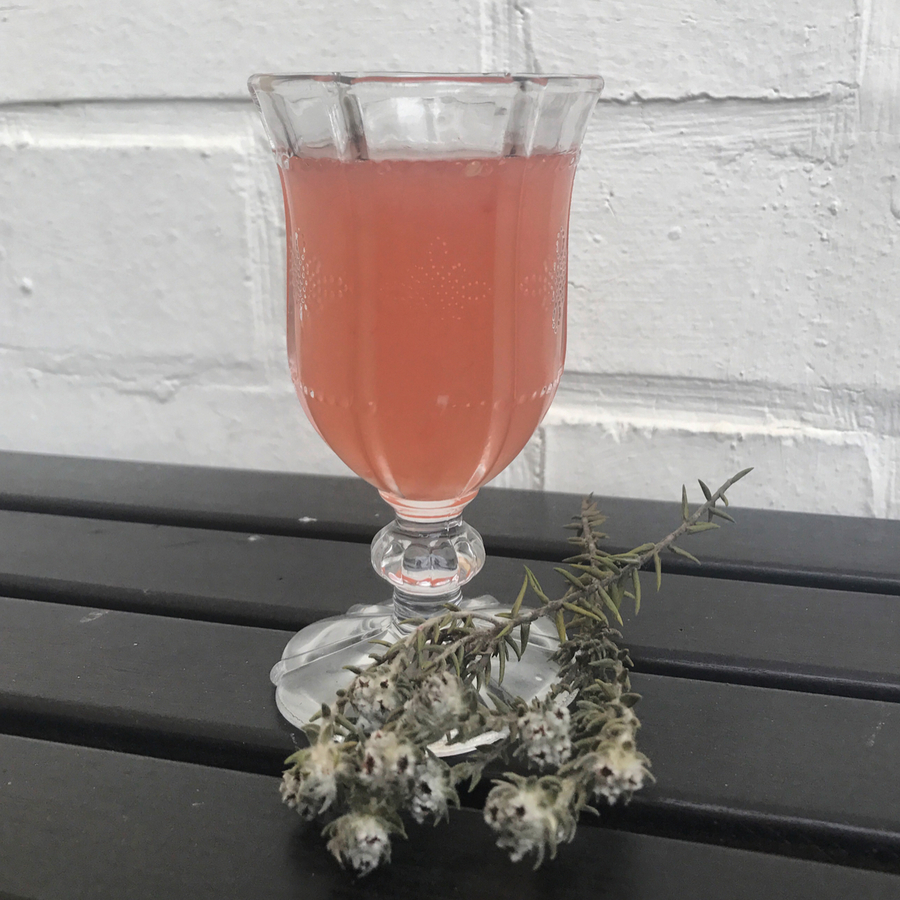 Lychee grapefruit cocktail