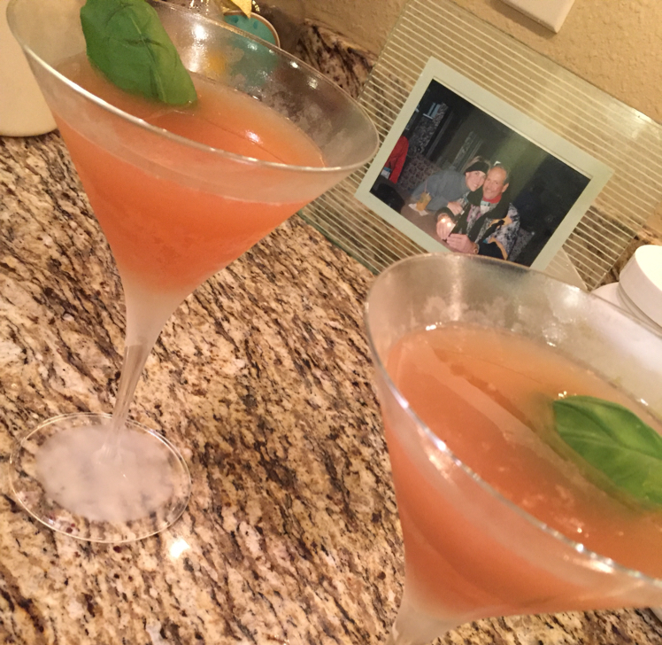 Basil grapefruit martini
